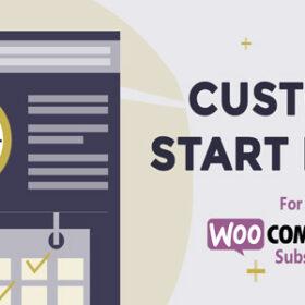 Custom Start Date for WooCommerce Subscriptions