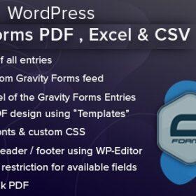 WordPress Gravity Forms PDF, Excel, CSV & Google Sheet